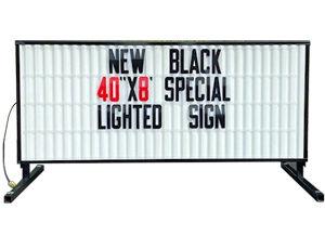 MODEL 40x96 LIGHTED BLACK WHITE