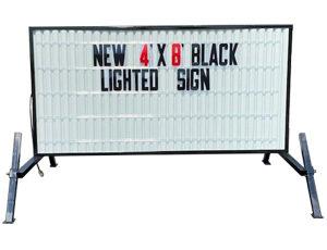 e-con-o-board 4-x-8 lighted black white