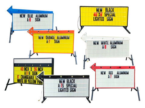 Portable Flashing Arrow Sign Double Sided